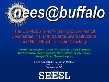 NCS - Network for Earthquake Engineering Simulation