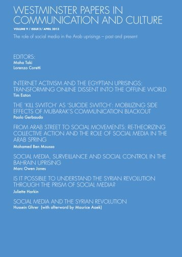 The role of social media in the Arab uprisings – past and present FULL