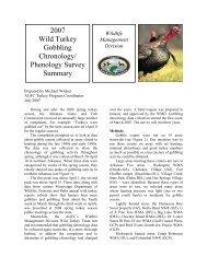 2007 Wild Turkey Gobbling Chronology/ Phenology Survey Summary