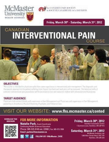 InteRventIonAL PAIn - The Canadian Pain Society