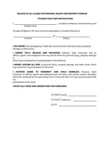 accident waiver and release of liability form orange county schools