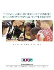 The Evaluation of 21st Century Community Learning Center Projects