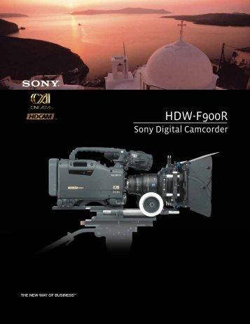 HDW -F900R Sony Digital Camcorder