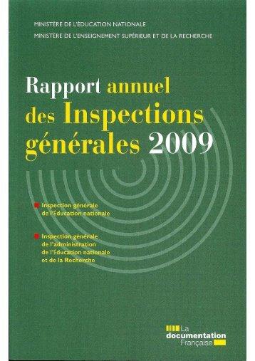 rapport annuel des inspections générales - SI.E.N-Unsa