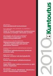 Kuntoutus-lehti 4/2010 - Kuntoutussäätiö