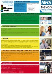 Choose Well A3 leaflet - Devon Primary Care Trust