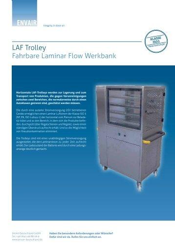 LAF Trolley Fahrbare Laminar Flow Werkbank - ENVAIR Deutschland