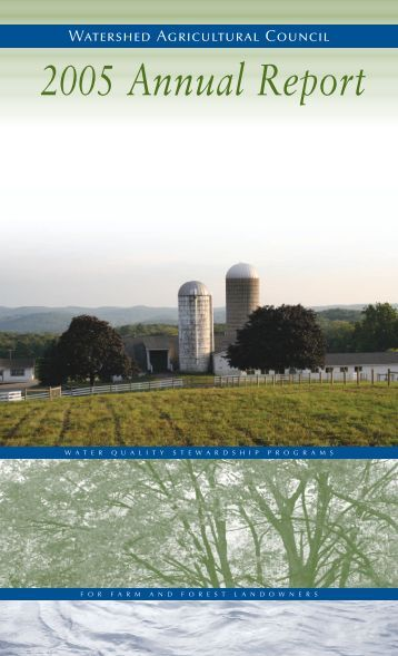 2005 - Watershed Agricultural Council