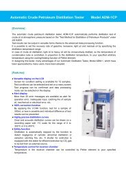Automatic Crude Petroleum Distillation Tester Model ... - Xebex.jp