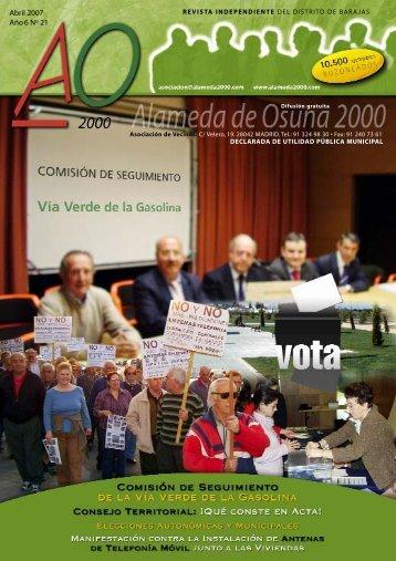 abril 2007 - Asociación de Vecinos Alameda de Osuna 2000