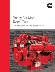 Ready For More. Every™ Ton. - Cummins Engines