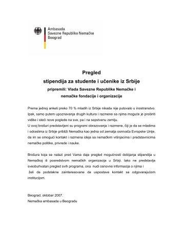 Pregled stipendija za studente i učenike iz Srbije