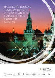 Balancing Russia's touRism deficit: a RepoRt on ... - Hilton Worldwide