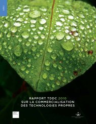 rapport tddc 2010 sur la commercialisation des technologies propres