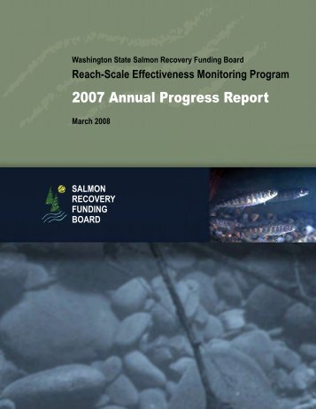 2007 Annual Progress Report - Washington State Recreation and ...