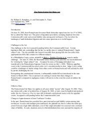 The Pennsylvania Fair Share Act - Margolis Edelstein