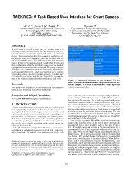 TASKREC: a task-based user interface for smart spaces