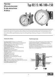 Datenblatt - DRUCK & TEMPERATUR Leitenberger GmbH