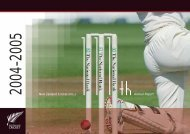 New Zealand Cricket (Inc.) Annual Report