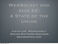 WebSocket and Java EE: A State of the Union - Jfokus