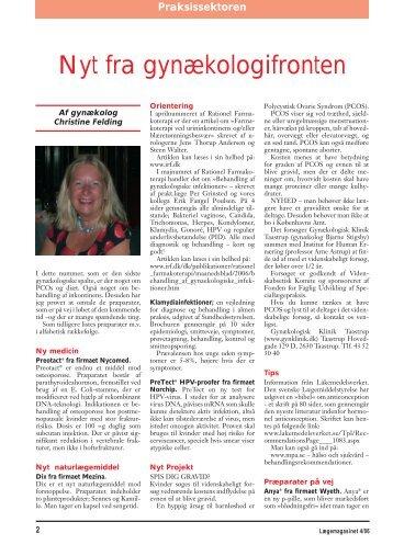 Nyt fra gynækologifronten - gynækolog christine felding