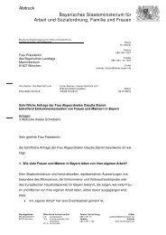 Bayerisches Staatsministerium für Arbeit und ... - Claudia Stamm