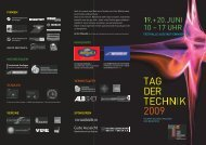 Flyer - Tag der Technik 2009