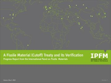 A Fissile Material (Cutoff) Treaty and its Verification - International ...