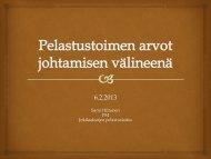 Arvot johtamisen välineenä - Suomen Palopäällystöliitto