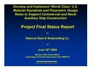 Project Final Status Report - NSRP
