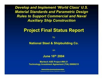 Project Final Status Report - NSRP