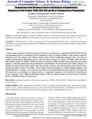 Comparison of the Virulence Factors and Analysis of Hypothetical ...