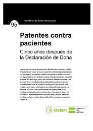 Patentes contra pacientes - Oxfam International