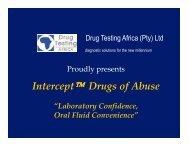 "Interceptâ""¢ Drugs of Abuse - Drug Testing Africa"