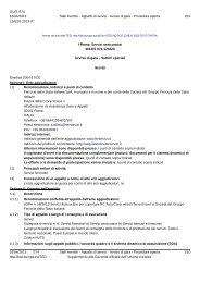 bando di gara (.pdf 186 KB ) - Gare Ferservizi