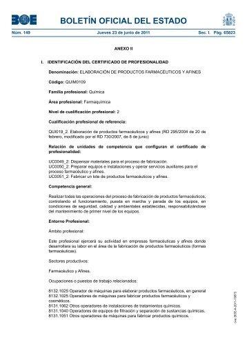 Elaboración de productos farmacéuticos y afines - Servicio Público ...