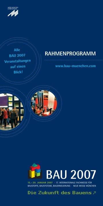 RAHMENPROGRAMM - Bundesarbeitskreis Altbauerneuerung e.V.