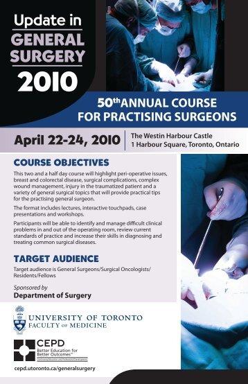 GENERAL SURGERY - CEPD University of Toronto