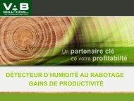 le détecteur d'humidité et ses caractéristiques - VAB Solutions