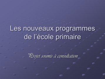 Présentation des nouveaux programmes - SI.EN - UNSA Education