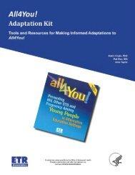 All4You! Adaptation Kit - ETR Associates