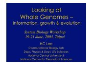 Looking at Whole Genomes – - Last 12 Months