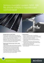 Montážní systém Schüco MSE 100 pro ploché ... - FDT (CZ), s.r.o.