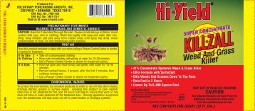 Hi-Yield Killzall Weed and Grass Killer Product Label - Pest Control