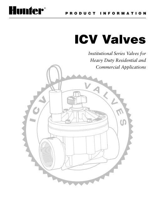Hunter ICV Valve Owner's Manual