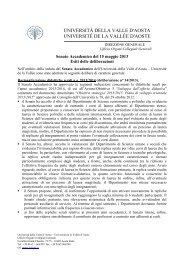 Seduta del 15 maggio 2013 - Università della Valle d'Aosta