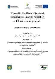Dokumentacja naboru wniosków o dofinansowanie projektu