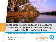 sustainable diversion limits and climate change