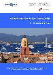 Erlebniswoche an der Côte-d'Azur - SERVRail