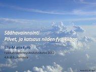 Säähavainnonteko, pilvet ja niiden fysiikka - Helsinki.fi